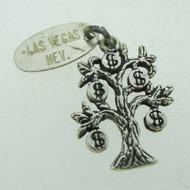 Vintage Sterling Silver Las Vegas Money Tree Charm Pendant