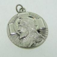 Sterling Silver Religious Christian Theda Charm Pendant