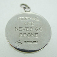 Sterling Silver Keep Me and Never Go Broke Penny Charm Pendant