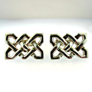 Vintage Thomas Pink Sterling Silver Rectangular Lace Style Cufflinks (300.1770W CB)