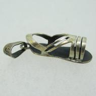Vintage Sterling Silver Flat Strappy Sandal Charm Pendant