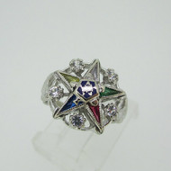 Vintage 10k White Gold Approx .15ct TW Diamond Eastern Star Ring Size 3 1/4