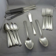 Mixed Vintage Silverplated Flatware 55 Pieces Wm Rogers 1847 Rogers Craft Lot