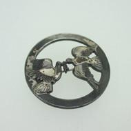 Sterling Silver Love Birds Dove Vintage Pin Brooch