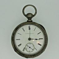 Antique 1883 Illinois Grade 1-S Model 1 18s 7J Coin Silver Pocket Watch Parts Steampunk (B6870)