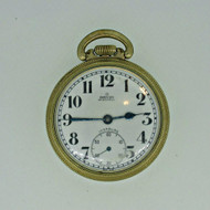 Vintage Orvin Watch Co. Swiss U441 16s 17J Unitas 429 10k Rolled Gold Plated Pocket Watch Parts Steampunk (B6871)