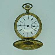 Antique Early 1900s Hampden Watch Co. 6s Jeweled Gold Filled Pocket Watch Parts Steampunk (B6880)