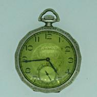 Antique 1927 Elgin Grade 303 Model 3 12s 7J Illinois Tivoli Gold Filled Pocket Watch Parts Steampunk (B6883)