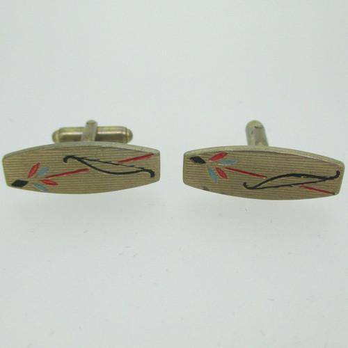 Anson Gold Tone Bow and Arrow Cufflinks