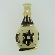 Paris New York Givenchy Enamel Gold Tone Bottle Shaped Brooch Pin