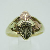 10k Black Hills Gold Grape Leaf Ring Size 4 3/4
