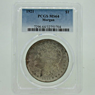 1921 P PCGS MS64 Morgan Silver Dollar (600387)