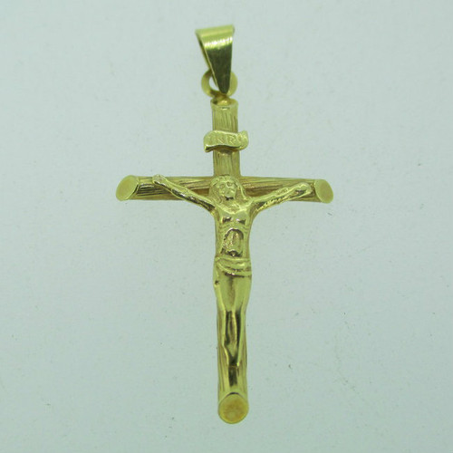 14k Yellow Gold Religious Cross Pendent Charm
