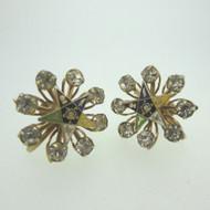 Vintage Gold Tone Ladies Screw Back Earrings Order of the Eastern Star Masonic
