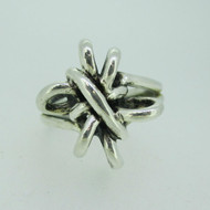Sterling Silver Large Abstract Loop Design Ring Size 11 1/4