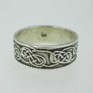 Sterling Silver Engraved Infinity Knot Band Ring Size 12 3/4
