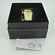 Elgin Gold Tone Quartz Car Desk Clock with Original Box (B7940)