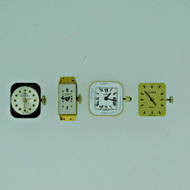 Lot of Four Ladies Watch Movements Baume & Mercier Bucherer Movado and Juvenia Parts (B7945)