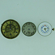Lot of Three Antique Movements Waltham and Two Swiss Parts Steampunk (B7949)
