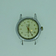 Vintage Winton Watch Co. Elbon Swiss LXA 17J Silver Tone and Stainless Steel Watch Case Movement and Dial Parts (B7957)