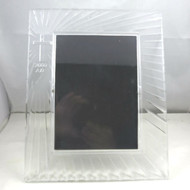 Waterford Crystal Rectangular Tabletop Picture Frame w Christian Cross 2000 A.D.