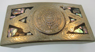 Southwestern Alpaca Mexico Belt Buckle with Myriam Calendar Design*