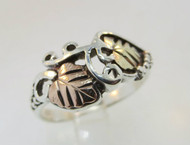 Sterling Silver and 12k Black Hills Gold Band. Size 7 ¼ *