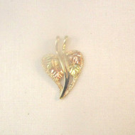 10k Yellow & Black Hills Gold CCO Coleman Leaves Heart Pendant