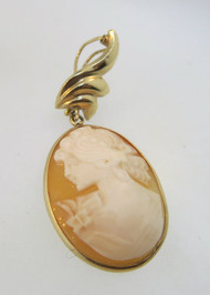 Vintage Gold Filled Cameo Pendant with Latching Clasp