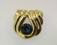 Nolan Miller Gold Tone with Blue Stone Pendant *