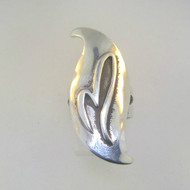 Sterling Silver M Initial Signet Monogram Ring Size 6