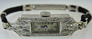 Bulova B/R 14k Solid White Gold Case Wound Tight Not Working Women's Watch Bracelet (300.1853 CB)