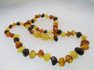 Natural Baltic Amber Baby Teething Necklace Quad Color