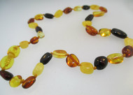 Natural Baltic Amber Baby Teething Necklace Multi Colored Beads