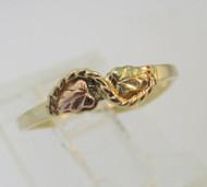 Coleman 10k Black Hills Gold Ring Size 3 ¼