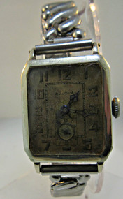 Antique Bulova Watch 14k White Gold Filled (300.3814A CB)