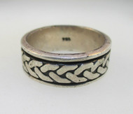 Sterling Silver Spinner Braid Ring Size 11