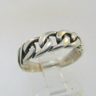Sterling Silver Chain Link Ring Size 6