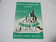 Cruise Guide Circle Line Around Manhattan Island Boat Ride 1961 Vintage Book