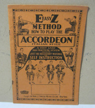 Easy Method How To Play The Italian Style Accordeon Early Vintage Music Book