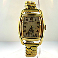 Antique Hamilton Watch Co. Inc. 17 Jewels Watch with 10k Gold Filled and Stainless Steel Case and Band (300.3942F CB)