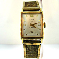 Antique Elgin Watch Co. 19 Jewels 10k Rolled Gold Plated and Stainless Steel Case and Band (300.3942I CB)