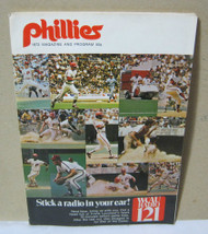 Phillies 1972 Baseball Magazine Program Vintage