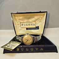 Vintage Bulova Watch Co. Waterproof Watch Stainless Steel Case and Band with Original Box (3003981 CB)