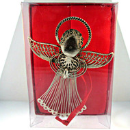 Silver Tone Angel Christmas Ornament with Original Box (500935CB)