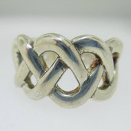 Sterling Silver Thick Weave Ring Size 8*