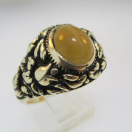10k Yellow Gold Cat Eye Ring Size 10 1/2