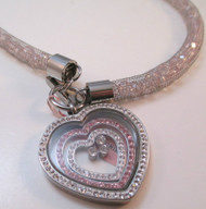 Wire Wrapped Beaded Necklace with 316 L Stainless Steel Heart Shaped Pendant*