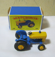 Matchbox Ford Tractor No.39 with Box Vintage Diecast
