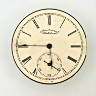 Antique 1891 Waltham Watch Co. Movement and Dial Parts Steampunk (3004262CB)